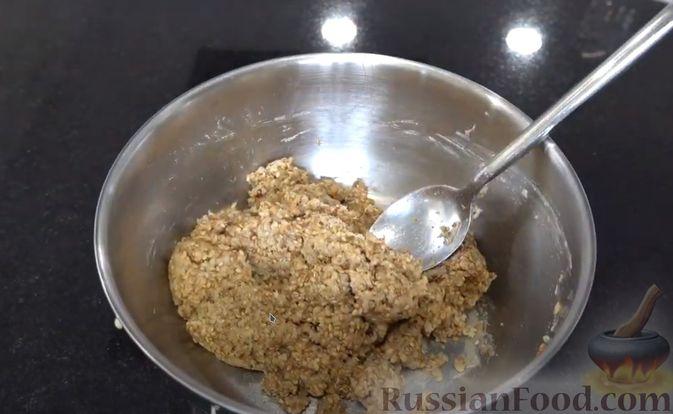 Фото приготовления рецепта: Кунжутное печенье на скорую руку (постная выпечка) - шаг №3