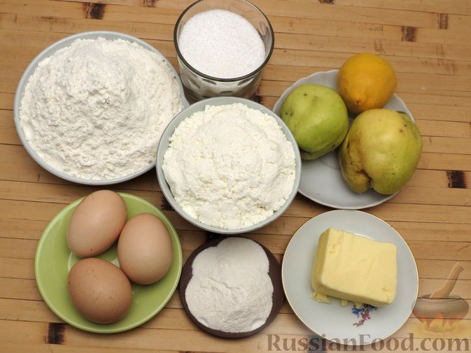 Фото приготовления рецепта: Творожный пирог с айвой и цедрой лимона - шаг №1