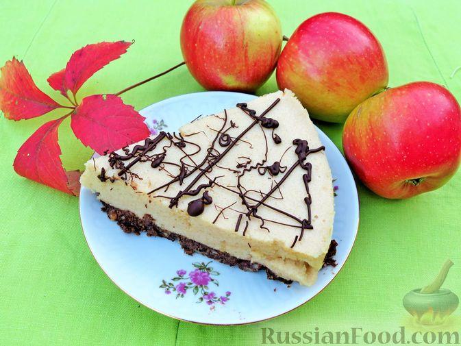 Фото к рецепту: Яблочный торт-суфле