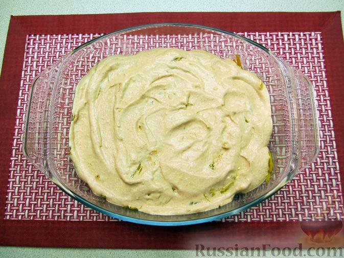 Фото приготовления рецепта: Свиная печень, запечённая с морковью, луком и сыром - шаг №15
