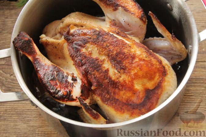 Фото приготовления рецепта: Курица, запечённая в молоке с пряностями - шаг №5