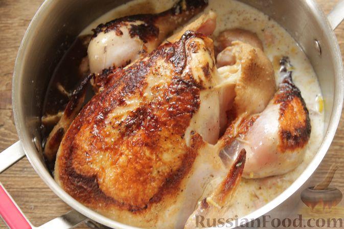 Фото приготовления рецепта: Курица, запечённая в молоке с пряностями - шаг №10