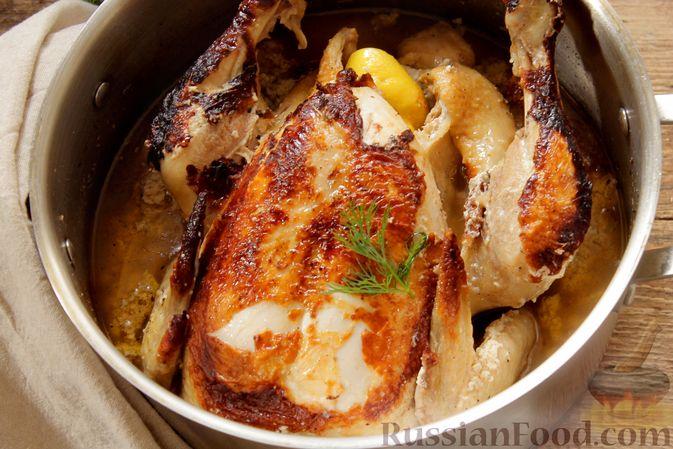 Фото приготовления рецепта: Курица, запечённая в молоке с пряностями - шаг №11