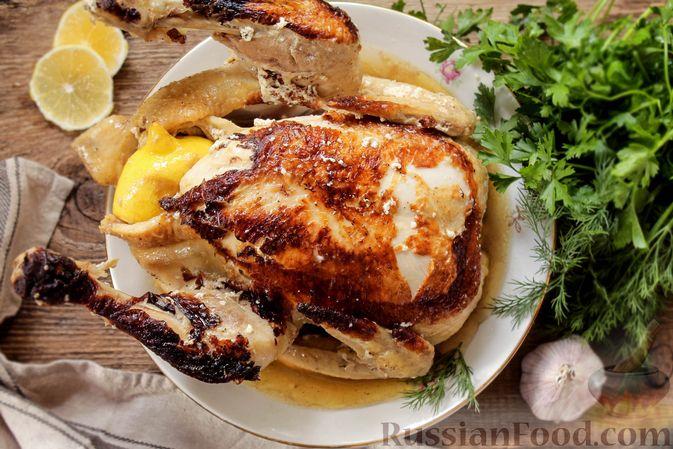 Фото приготовления рецепта: Курица, запечённая в молоке с пряностями - шаг №12