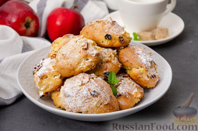 Фото к рецепту: Яблочное печенье с мёдом, сухофруктами и орехами