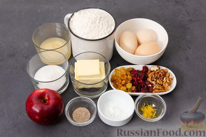 Фото приготовления рецепта: Яблочное печенье с мёдом, сухофруктами и орехами - шаг №1