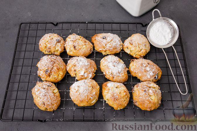 Фото приготовления рецепта: Яблочное печенье с мёдом, сухофруктами и орехами - шаг №16