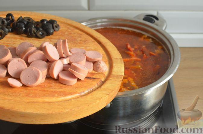 Фото приготовления рецепта: Мясная солянка - шаг №14