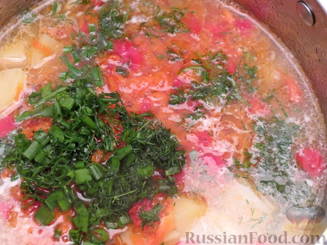 "Фото приготовления рецепта: Суп ""Затируха"" с индейкой - шаг №14"