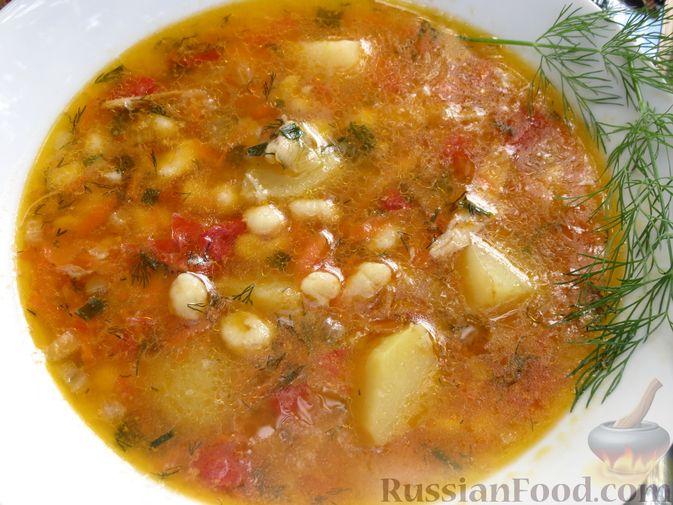 "Фото приготовления рецепта: Суп ""Затируха"" с индейкой - шаг №15"