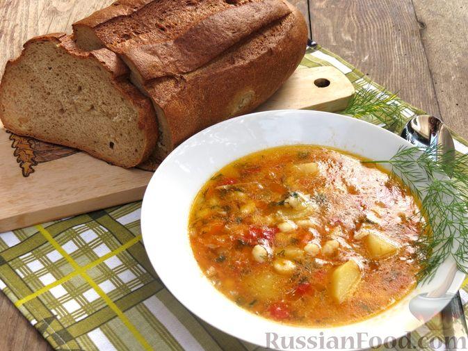 "Фото приготовления рецепта: Суп ""Затируха"" с индейкой - шаг №16"