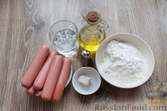 Фото приготовления рецепта: Сосиски-спиральки в дрожжевом тесте, на шпажках - шаг №1