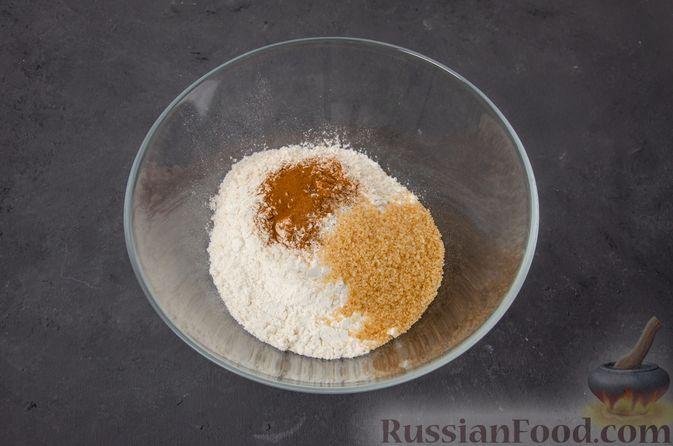 Фото приготовления рецепта: Тыквенные сконы с грецкими орехами и корицей - шаг №6