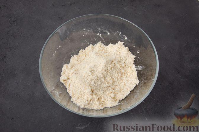 Фото приготовления рецепта: Тыквенные сконы с грецкими орехами и корицей - шаг №8