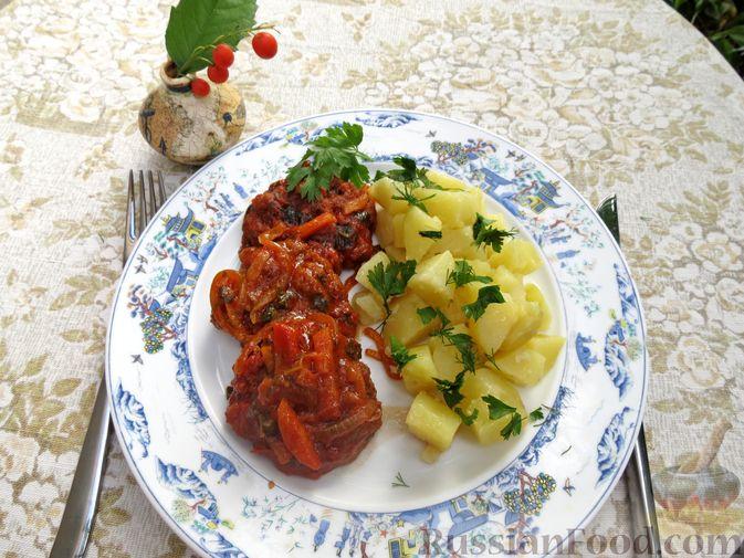 Фото приготовления рецепта: Запечённые рубленые котлеты из куриной печени в томатном соусе - шаг №17