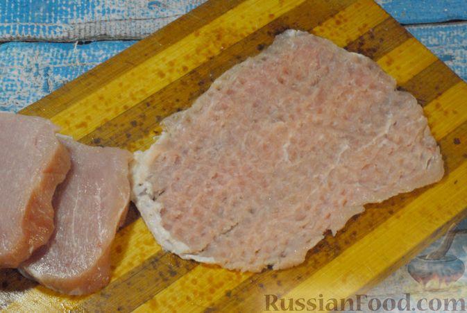 Фото приготовления рецепта: Мясные рулетики с апельсином - шаг №3