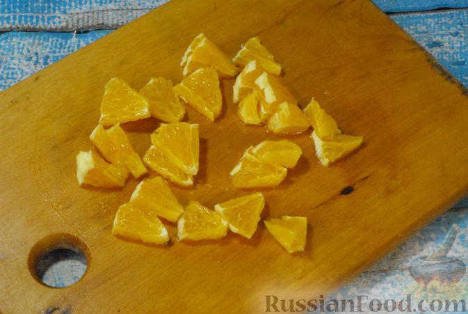 Фото приготовления рецепта: Мясные рулетики с апельсином - шаг №5