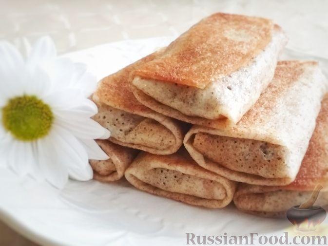 Фото к рецепту: Блинчики с начинкой из ливера