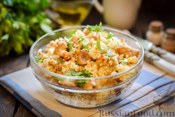 Фото к рецепту: Кускус с мясом и овощами