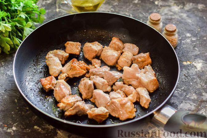 Фото приготовления рецепта: Кускус с мясом и овощами - шаг №4