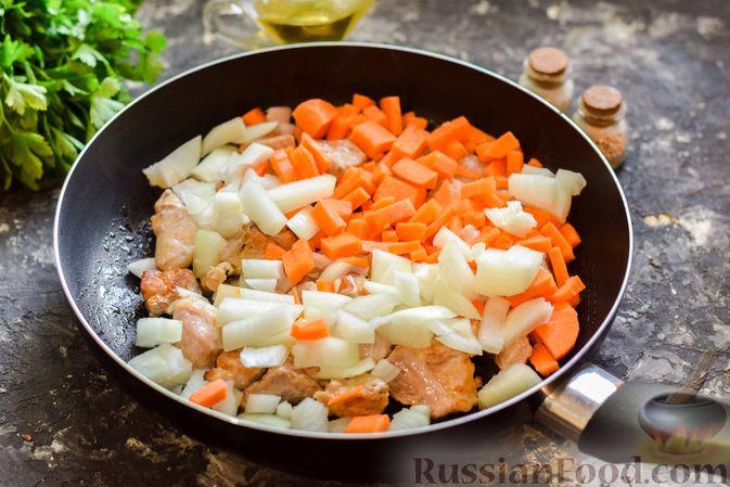 Фото приготовления рецепта: Кускус с мясом и овощами - шаг №5