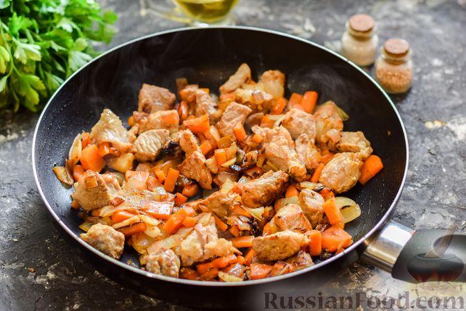 Фото приготовления рецепта: Кускус с мясом и овощами - шаг №6