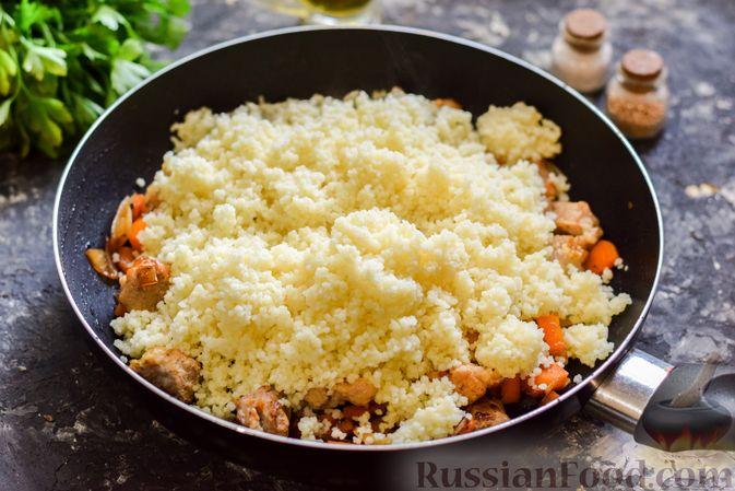 Фото приготовления рецепта: Кускус с мясом и овощами - шаг №10