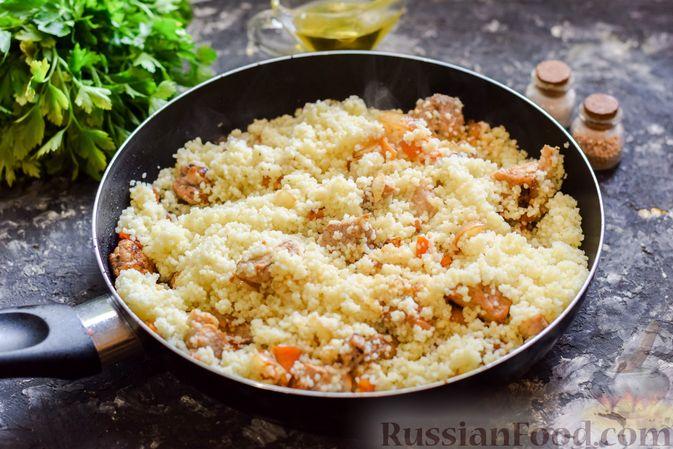 Фото приготовления рецепта: Кускус с мясом и овощами - шаг №11