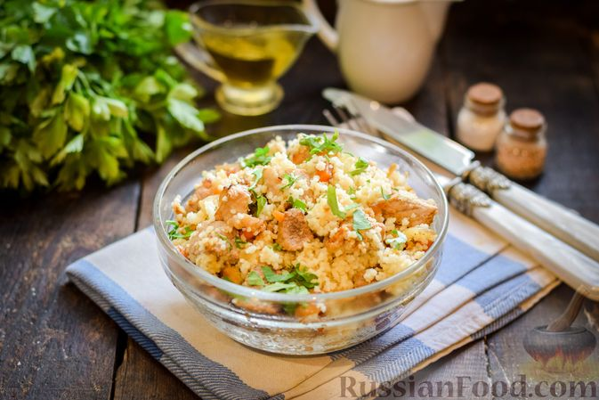 Фото приготовления рецепта: Кускус с мясом и овощами - шаг №12