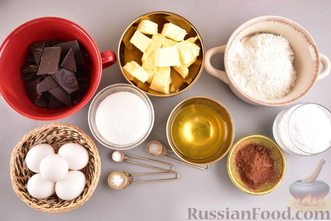 """Фото приготовления рецепта: Шоколадные брауни с безе """"Привидения"""" - шаг №1"""