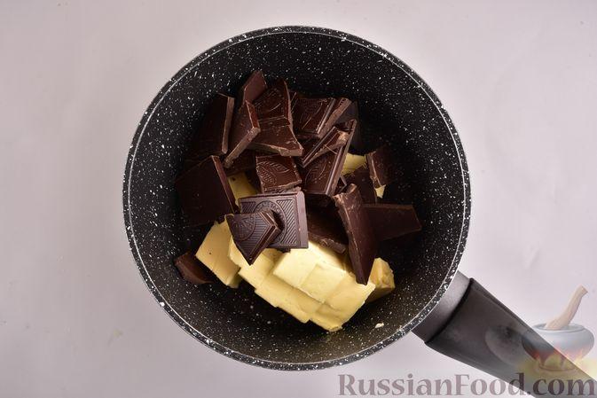 """Фото приготовления рецепта: Шоколадные брауни с безе """"Привидения"""" - шаг №2"""