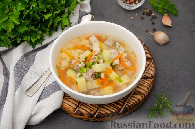 Фото к рецепту: Куриный суп с картофелем