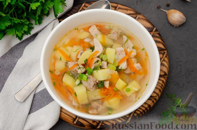 Фото приготовления рецепта: Куриный суп с картофелем - шаг №12