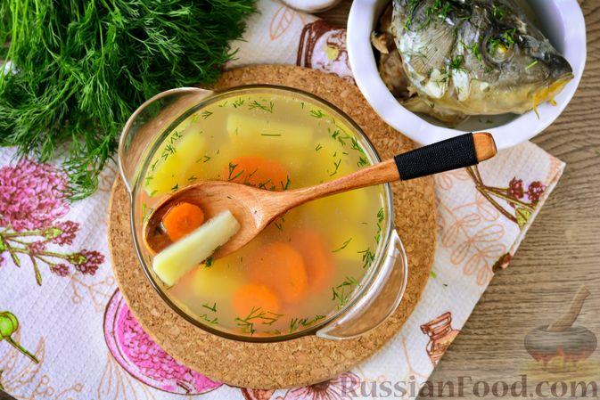 Фото приготовления рецепта: Дoмaшняя уxa из карпа - шаг №11