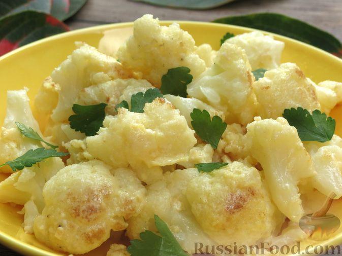 Фото приготовления рецепта: Цветная капуста, жаренная с яйцами и сыром - шаг №11