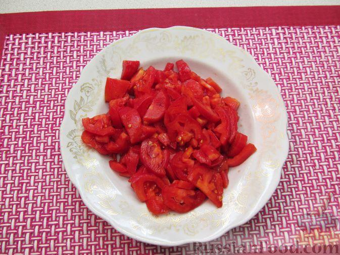 Фото приготовления рецепта: Несладкие ленивые вареники с томатным соусом - шаг №8