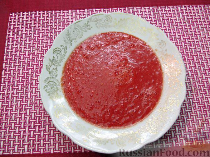 Фото приготовления рецепта: Несладкие ленивые вареники с томатным соусом - шаг №9