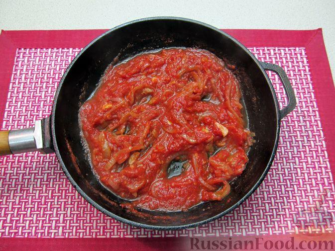 Фото приготовления рецепта: Несладкие ленивые вареники с томатным соусом - шаг №14