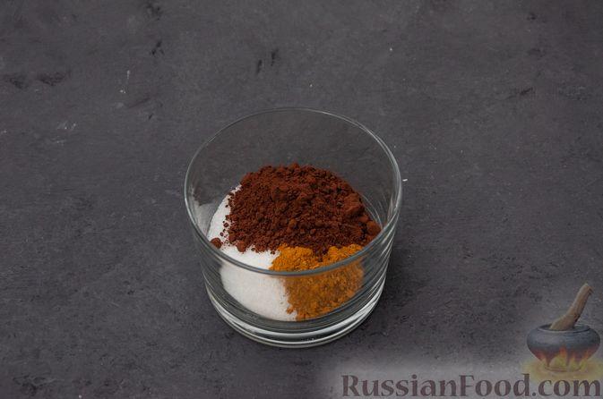 """Фото приготовления рецепта: Пирог """"Ель"""" из слоёного теста, с какао и корицей - шаг №3"""