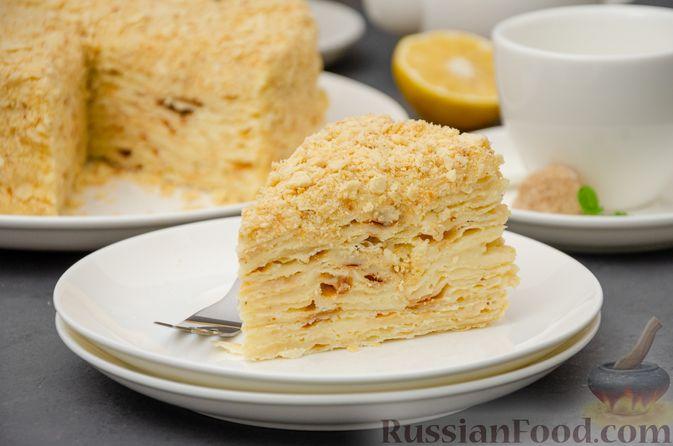 "Фото к рецепту: Торт ""Наполеон"" на сковороде"