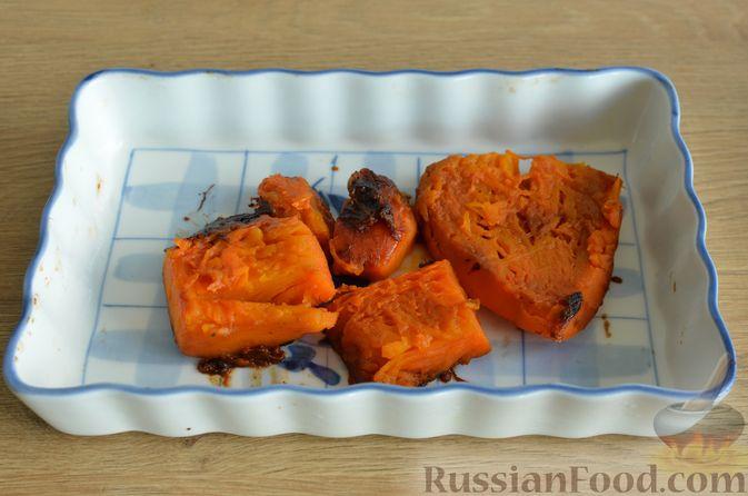 Фото приготовления рецепта: Ризотто с тыквой и беконом - шаг №4