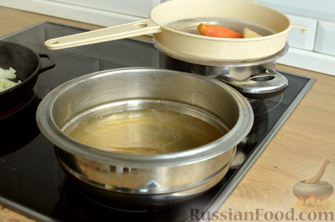 Фото приготовления рецепта: Ризотто с тыквой и беконом - шаг №7