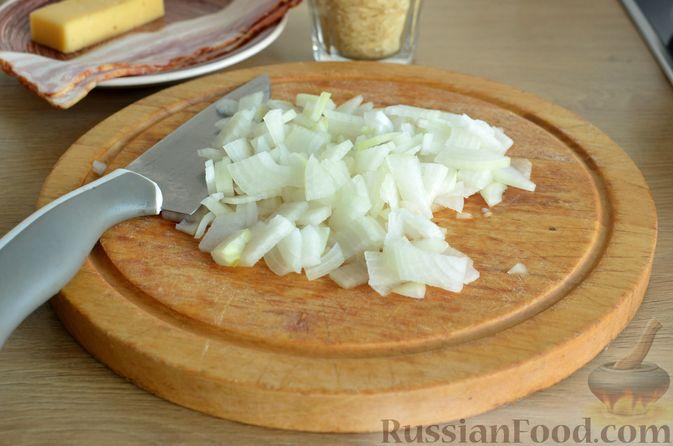 Фото приготовления рецепта: Ризотто с тыквой и беконом - шаг №8
