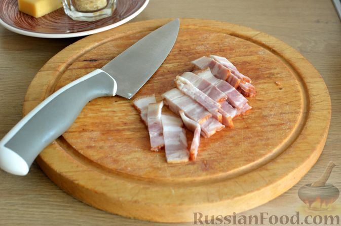 Фото приготовления рецепта: Ризотто с тыквой и беконом - шаг №10