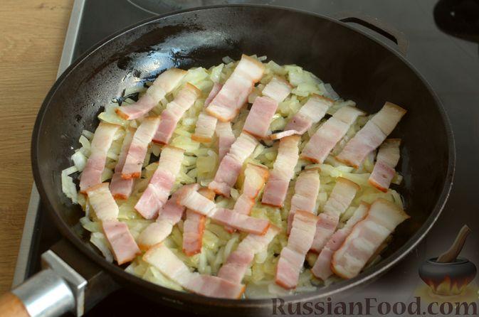 Фото приготовления рецепта: Ризотто с тыквой и беконом - шаг №11