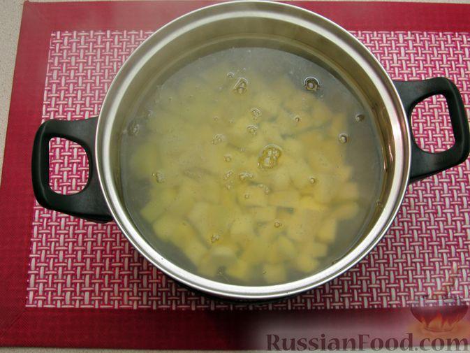 Фото приготовления рецепта: Суп с куриными фрикадельками и пшеном - шаг №9