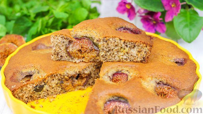 Фото к рецепту: Пирог с инжиром