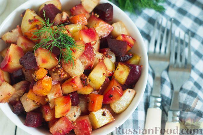 Фото приготовления рецепта: Кольраби, свёкла, картофель и морковь, запечённые с бальзамическим соусом - шаг №10