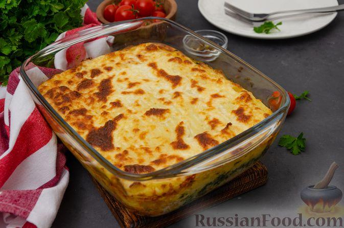 Фото приготовления рецепта: Картофельная запеканка с сёмгой и шпинатом - шаг №16