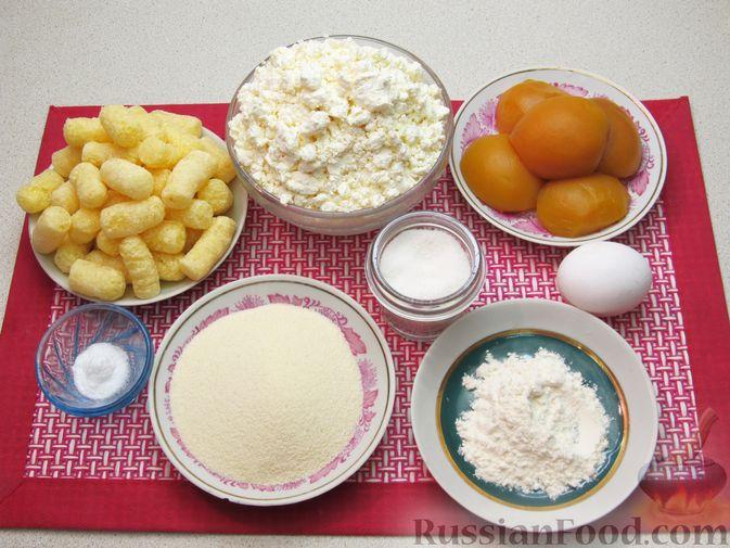 Фото приготовления рецепта: Ленивые вареники с консервированными персиками, в кукурузной посыпке - шаг №1